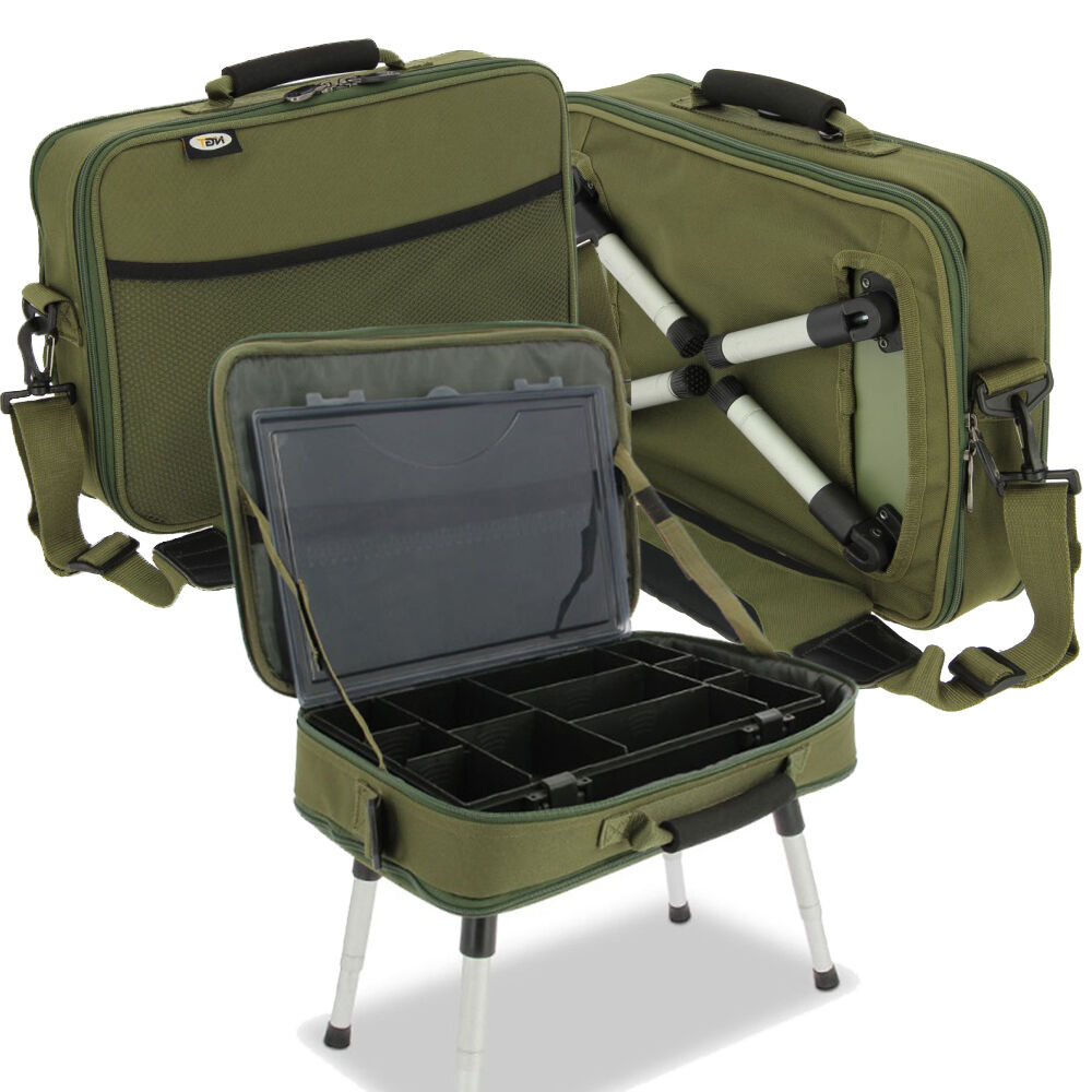 NGT Deluxe Adjustable Angler Carp Fishing Box Enclosure System Installed