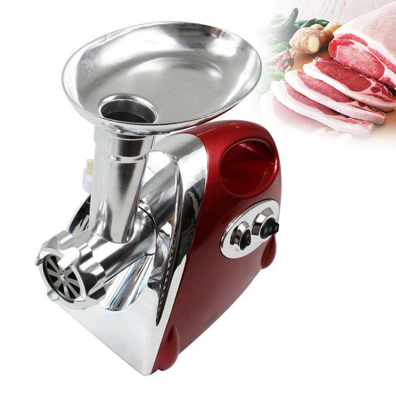 Stainless Steel Heavy Duty Sausage Meat Grinder & Mincer Maker with Accessories