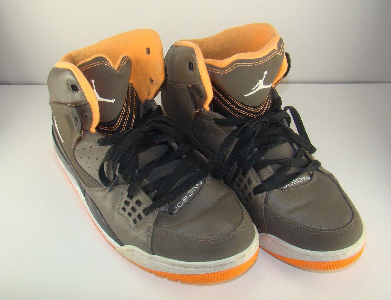 Brand discount Men's Nike Air Jordan Olive Khaki Orange High Tops Sneakers Shoes 11