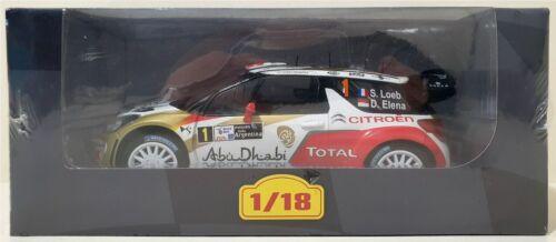 NEUF IXO 1//18 Rallye Citroen DS3 WRC 2013 Loeb// Elena
