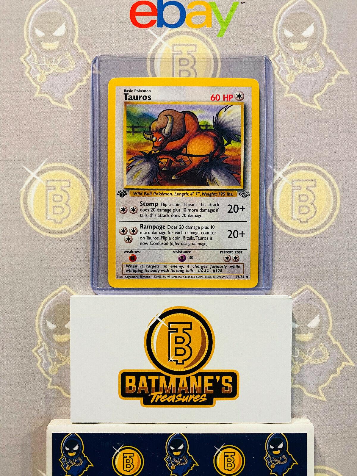 Pokemon TCG Jungle Tauros 47//64 Unlimited Uncommon Near Mint