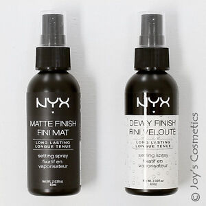 2 Nyx Makeup Setting Spray Quot Mss 01 02 Quot Matte Dewy Finish