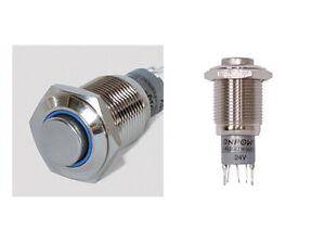 Vollmetall-Taster-Ringbeleuchtung-LED-Blau-Schliesser-Offner-Loetanschluss-5914