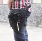 New Motorcycle Scooter Drop Leg Waist Bag pack with Key Chain / Reflective tape