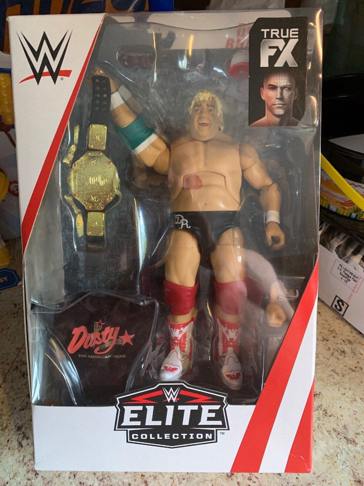 DUSTY RHODES WWE MATTEL ELITE SERIES French Canadian Packaging Rare Gem WWF NWA