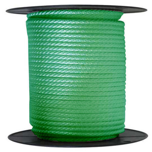 """ANCHOR ROPE DOCK LINE 3//8/"""" X 200/' BRAIDED 100/% NYLON GREEN MADE IN USA"""