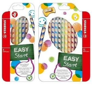 Stabilo-EASYColors-Colouring-Pencils-Easy-Colours-Right-amp-Left-6-or-12-Pack