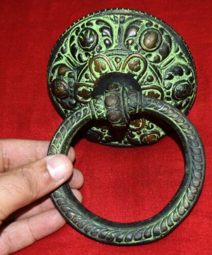 Brass Tibetan Buddhist Heavy Door Knocker Handicraft Front Doorbell Knocker WG11