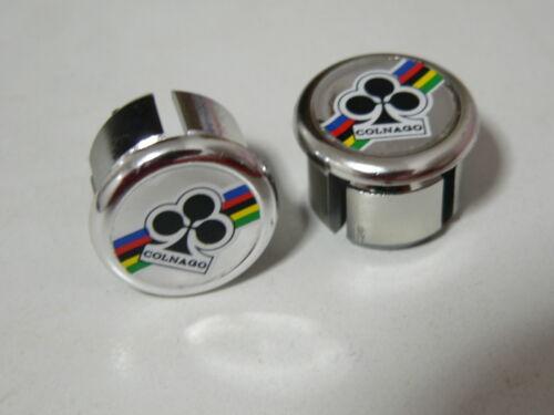 2 couple,new NOS-ORIGINAL-COLNAGO Handlebar End Plugs,Bar End Caps endcaps