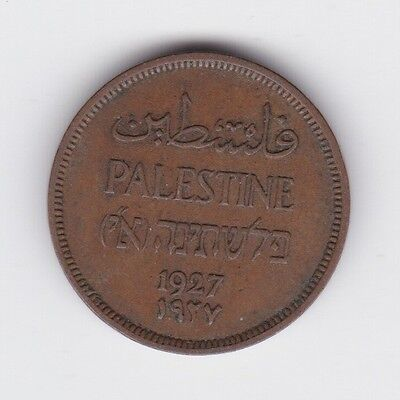 1927 palestine one mil coin