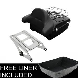 SLMOTO Chopped Trunk Backrest Luggage Rack For Harley Tour Pak Road King Glide 14-20 16