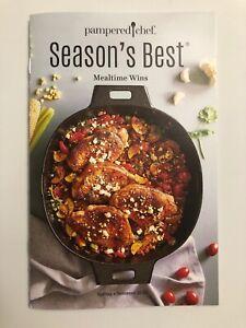 Pampered Chef Season's Best Cookbook Spring / Summer 2020 Color New