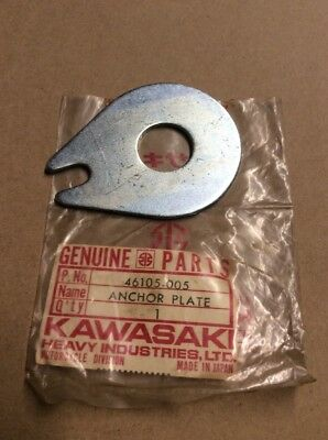 NOS Kawasaki H1 H2 KH250 KH500 S1 S2 OEM Steering Damper Anchor Plate 46105-005