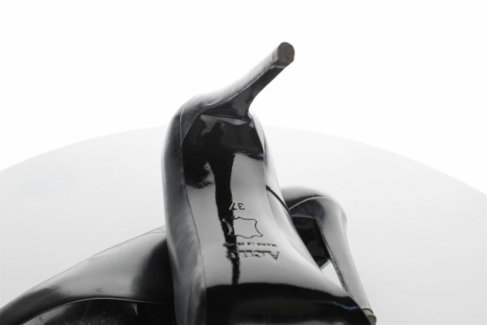 Acne Black Leather Heels, UK 4 US 7 7 7 EU 37 996d9b