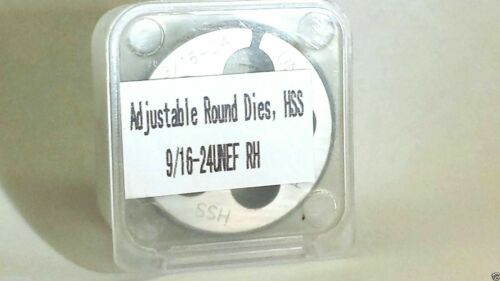 """Details about  /Lighthouse Tools® 9//16-24 RH HSS Adjustable Round Threading Die 1-1//2/"""" OD"""