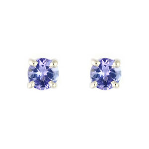 Ivy-Gems-9ct-White-Gold-SMALL-Four-Claw-Genuine-Tanzanite-Stud-Earrings-BNIB