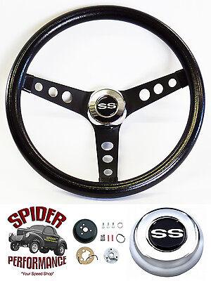 "1969-1974 Nova steering wheel SS 13 1/2"" CLASSIC BLACK steering wheel"