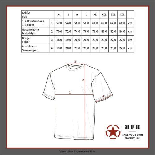 170 g // m2 Größe L US T-Shirt woodlandtarn NEU halbarm