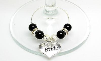 Frugale Black Pearl Personalizzato Matrimonio Famiglia Top Festa Tavola Vino Vetro Charms-mostra Il Titolo Originale