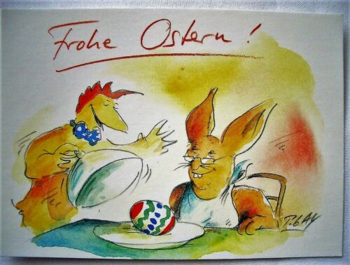 PETER GAYMANN*Cartoon*Ostern*Postkarte*Zauberhafte Ostern.....10 x 15*