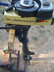 Vintage Outboard 1970 Johnson 1 5 Hp 1 Cyl Model 1r70r