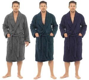 hommes luxe 100 ponge coton peignoir robe de chambre enveloppant pyjama ht566 ebay. Black Bedroom Furniture Sets. Home Design Ideas