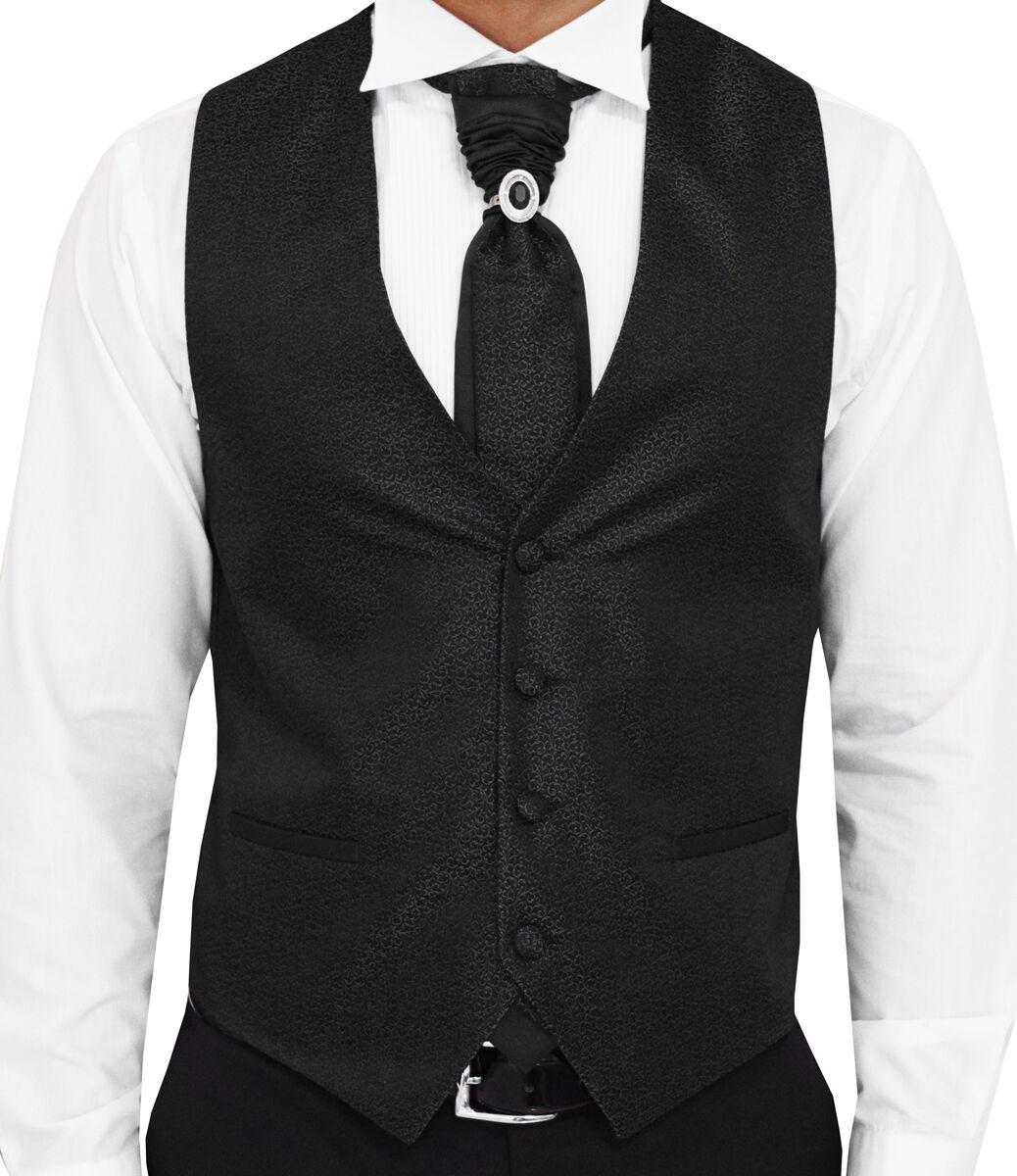 Nuziale da uomo nera Gilet Flora - pezzi-Designer 3 pezzi-Designer - Gilet-Taglia s-7xl w16 9a4db6