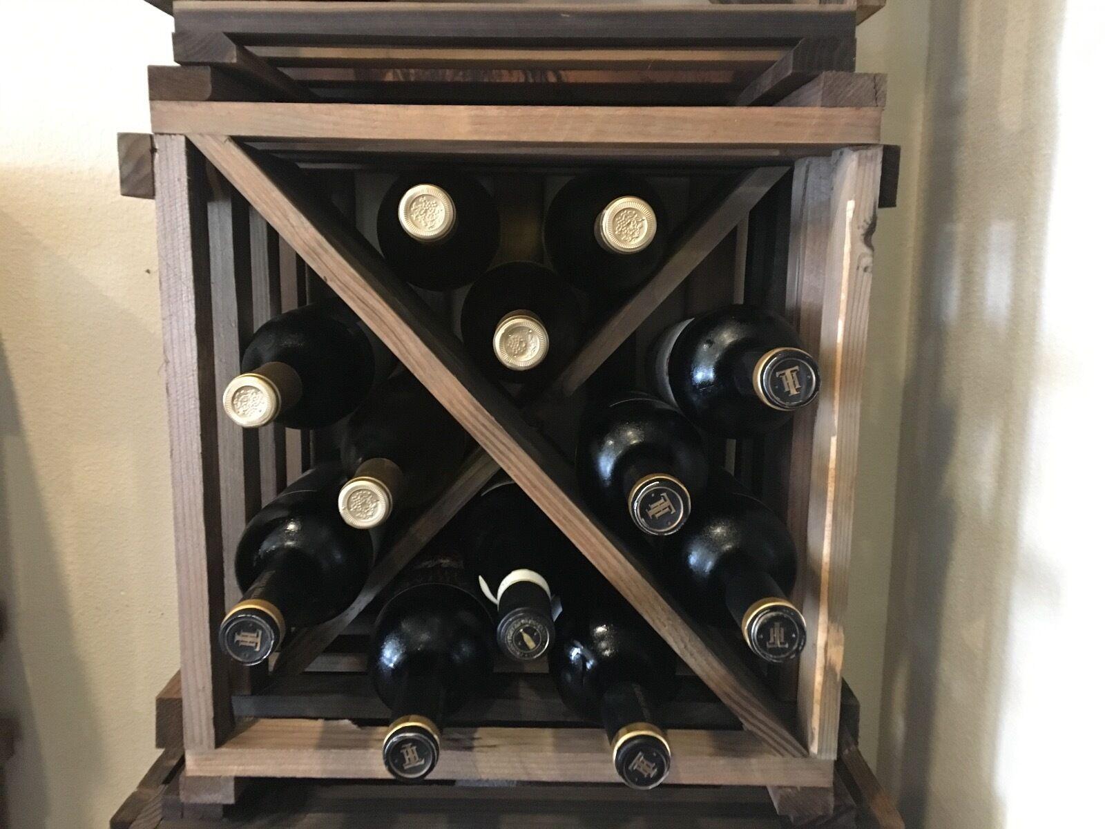 Rustique Reclaimed Bois Casier à vin vin cadeau bar restaurant FERME PAYS decor