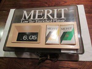 """Tobacciana , Merit , Clock , Philip Morris Inc. , 22"""" X 16"""" X 2 1/2"""" , Vintage"""