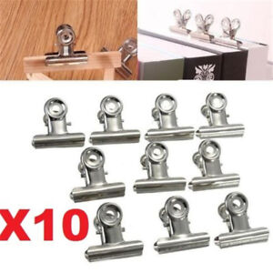 '10Pc-31mm-Stainless-Steel-Silver-Bulldog-Clips-Money-Letter-Paper-File-Clamps' from the web at 'https://i.ebayimg.com/images/g/NngAAOSw4PxaF90X/s-l300.jpg'