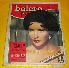 BOLERO FILM 1958 n. 607 Liz Taylor, Valeria Moriconi, Robert Mitchum