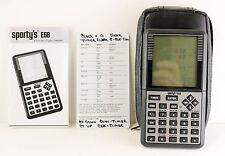 Sporty's E6B Electronic Flight Computer Calculator  w manual, case