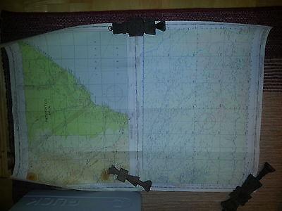 (65-a) 2 X Topo-karten, Belgian Congo, French Equatorial Africa Lake Leopold Ii