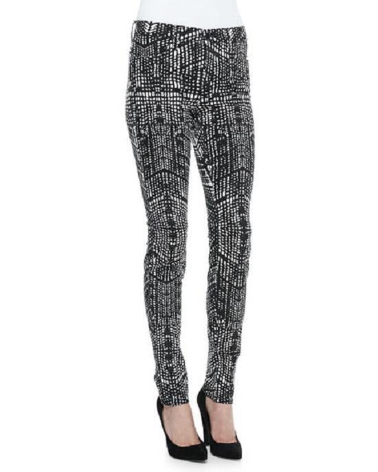 New J Brand Size 24 Women's 620 Mid Rise Super Skinny Jeans Kaleidoscope Print