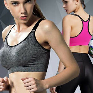 Sport-Bra-Seamless-Women-Stretch-Padded-Push-Up-Shakeproof-Yoga-Comfort-Exercise