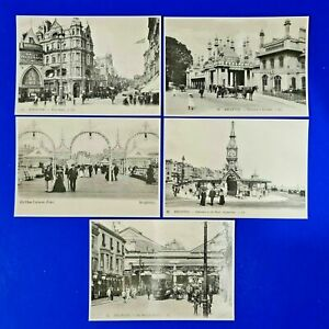 Set of 5 Vintage Repro Sussex Postcards of c1905 Brighton by Mayfair Cards