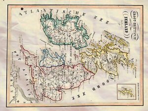 A4 Map Of Ireland.Map Britain Ireland Van Bommel 1865 Photo Print A4 Ebay