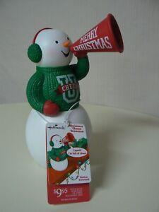 "Hallmark Christmas Cheer U Snowman 8/"" Motion Activated Cheerleader NEW with Tag"