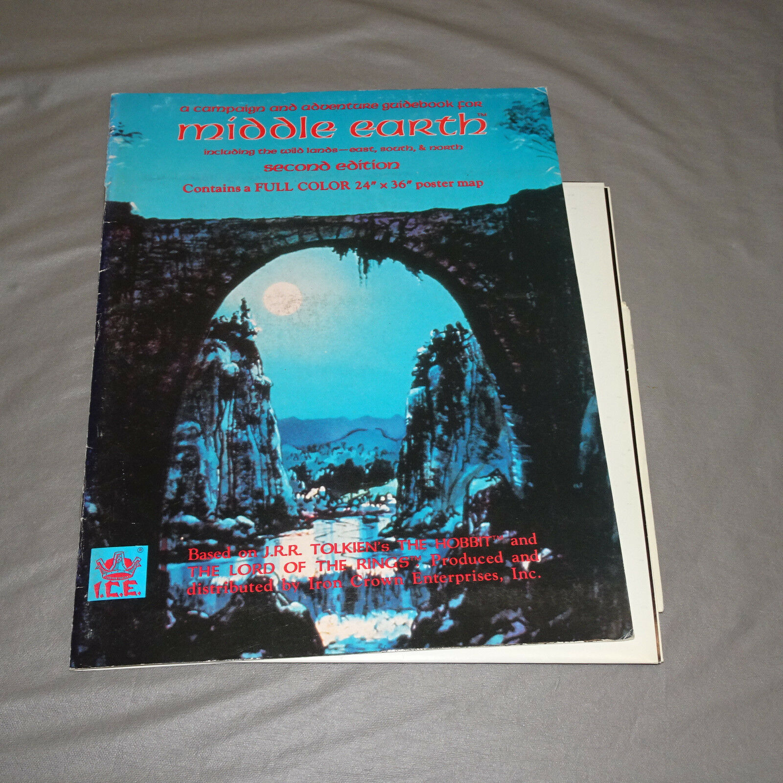 MIDDLE EARTH SECOND EDITION w  POSTER MAP  ME2200  I.C.E. - 1983