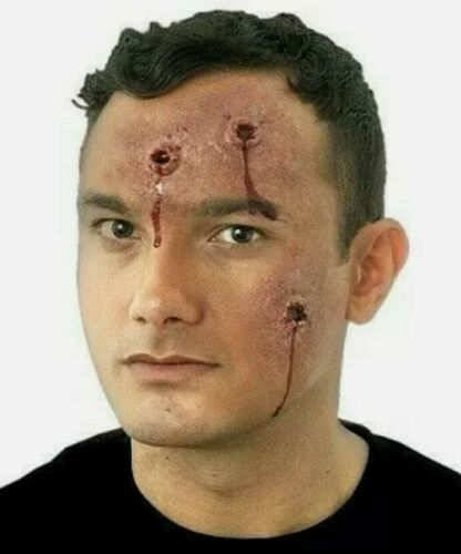 Body Hits Latex Prosthetic Bullet Wounds Gangster Halloween FX Makeup Woochie