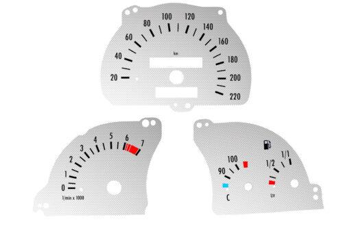 Astra F CARBON Tachoscheiben 1007 Tachoscheibe für Opel Kombi Tacho Vectra A
