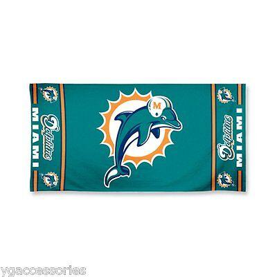 NWT NFL Miami Dolphins Fiber Reactive 30 X 60 Pool Beach Dorm Towel FREE SHIP!!
