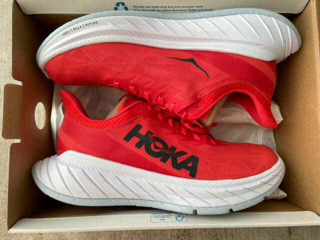 Hoka One One Carbon X 2 - Fiesta/White - Men's Running Shoes (US 10.5)