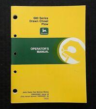 Genuine John Deere 680 Series Drawn Chisel Plow Operators Manual Perfect Shape