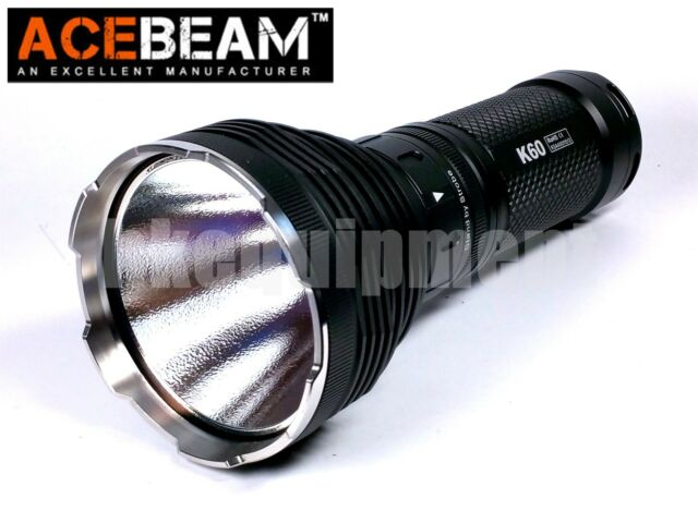 ACEBeam K60 Cree XHP70 LED 5000lm 704m Magnetic Ring Flashlight Black