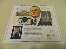 History of America in Stamps JOHNSON'S GREAT SOCIETY LEGISLATION Postal Panel