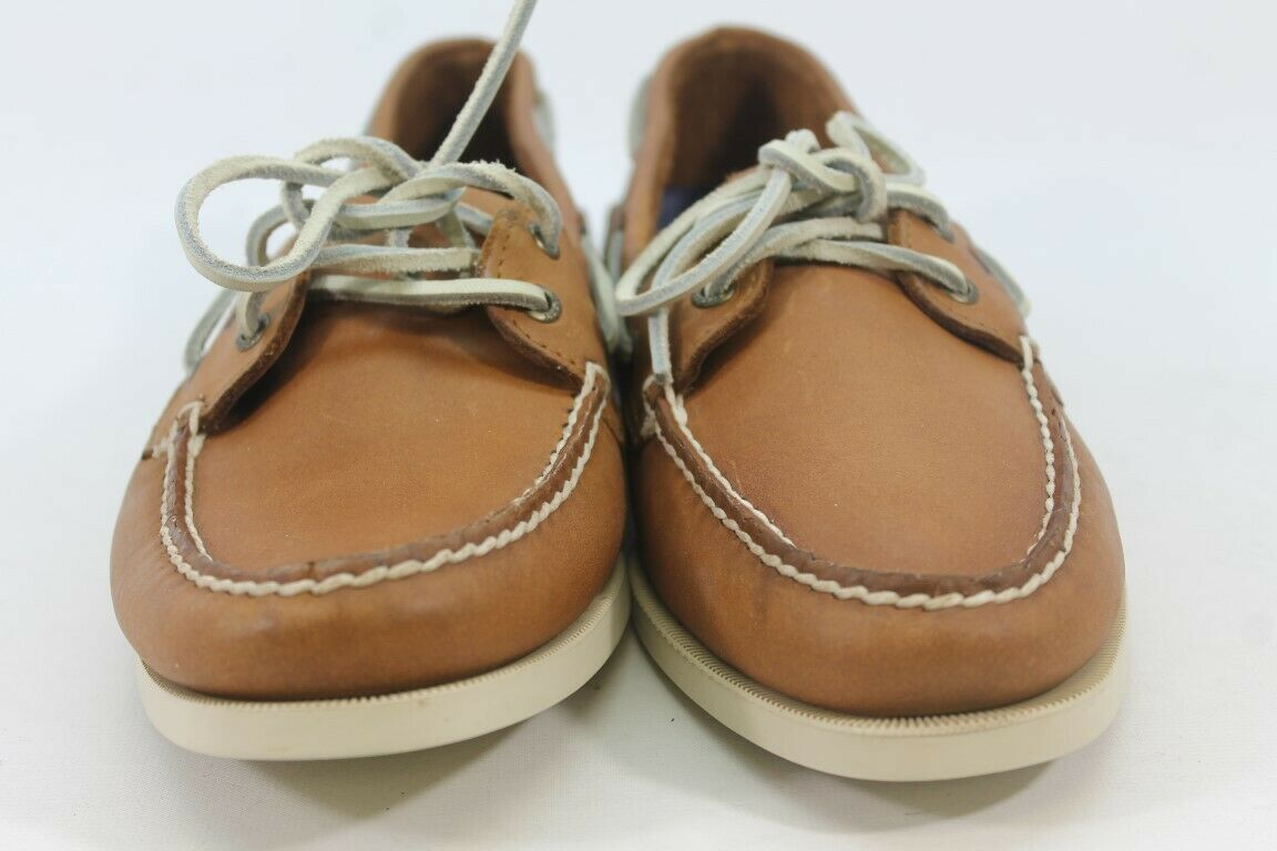 Sperry-Top Sider Authentic Original Women's Tan/Cream Boat Shoes 11M (ZAP12472)