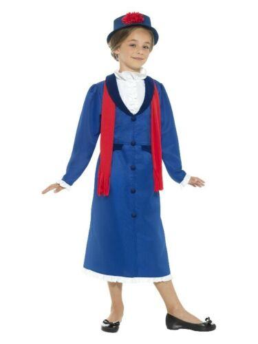 Girls Victorian Nanny Mary Poppins Costume Book Week Edwardian Child Fancy Dress