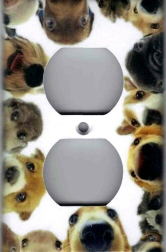 FUNNY DOGS ON WHITE HOME WALL DECOR LIGHT SWITCH PLATES ANDOUTLETS