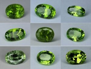Natural-Peridot-Loose-Oval-Cut-Gemstone-Pakistan-Many-Sizes-5mm-12mm-Small-Big